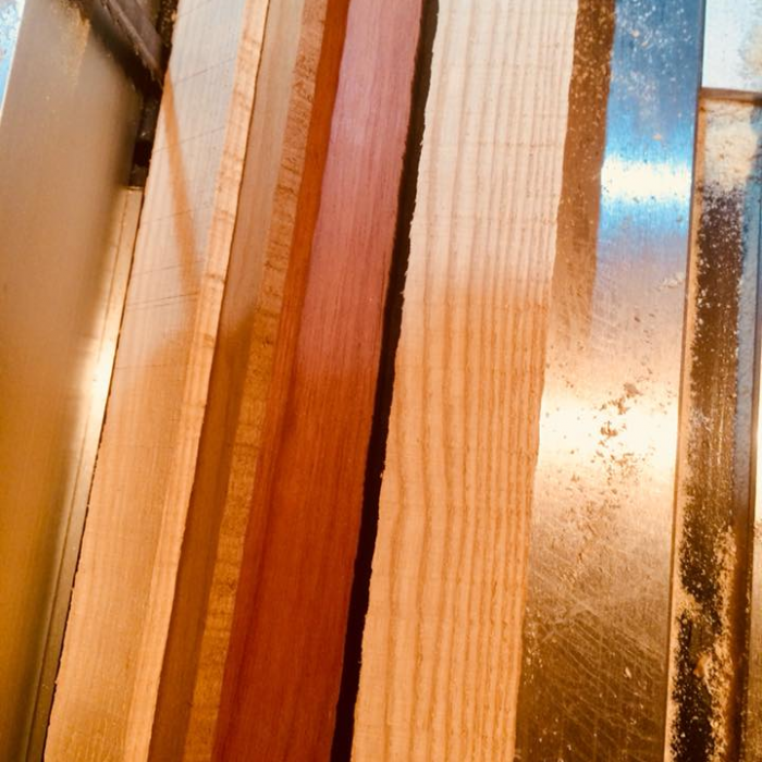 Triple Laminate stave - Rock maple, Cherry & Jacobo