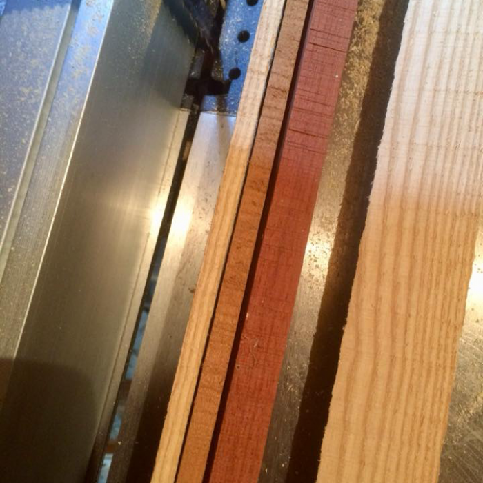 Triple Laminate stave - English Ash, Cherry & black walnut